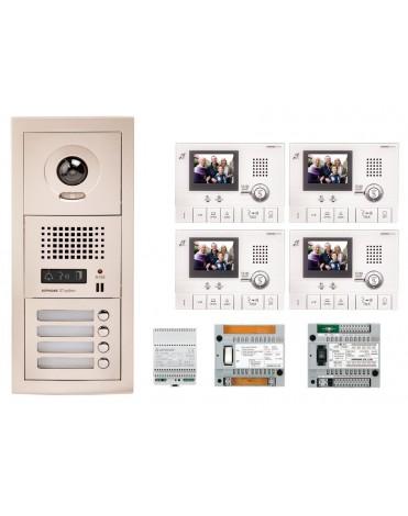 Aiphone GTV4F Kit vidéo kit 4 appartements 2 460,00 €